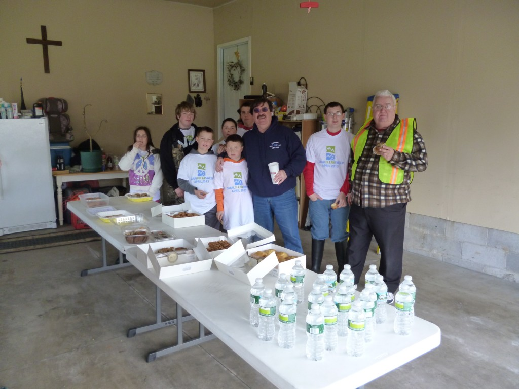 "Pastor Tom opened up his house to serve refreshments.  Neighbors in the area also donated ""goodies"""